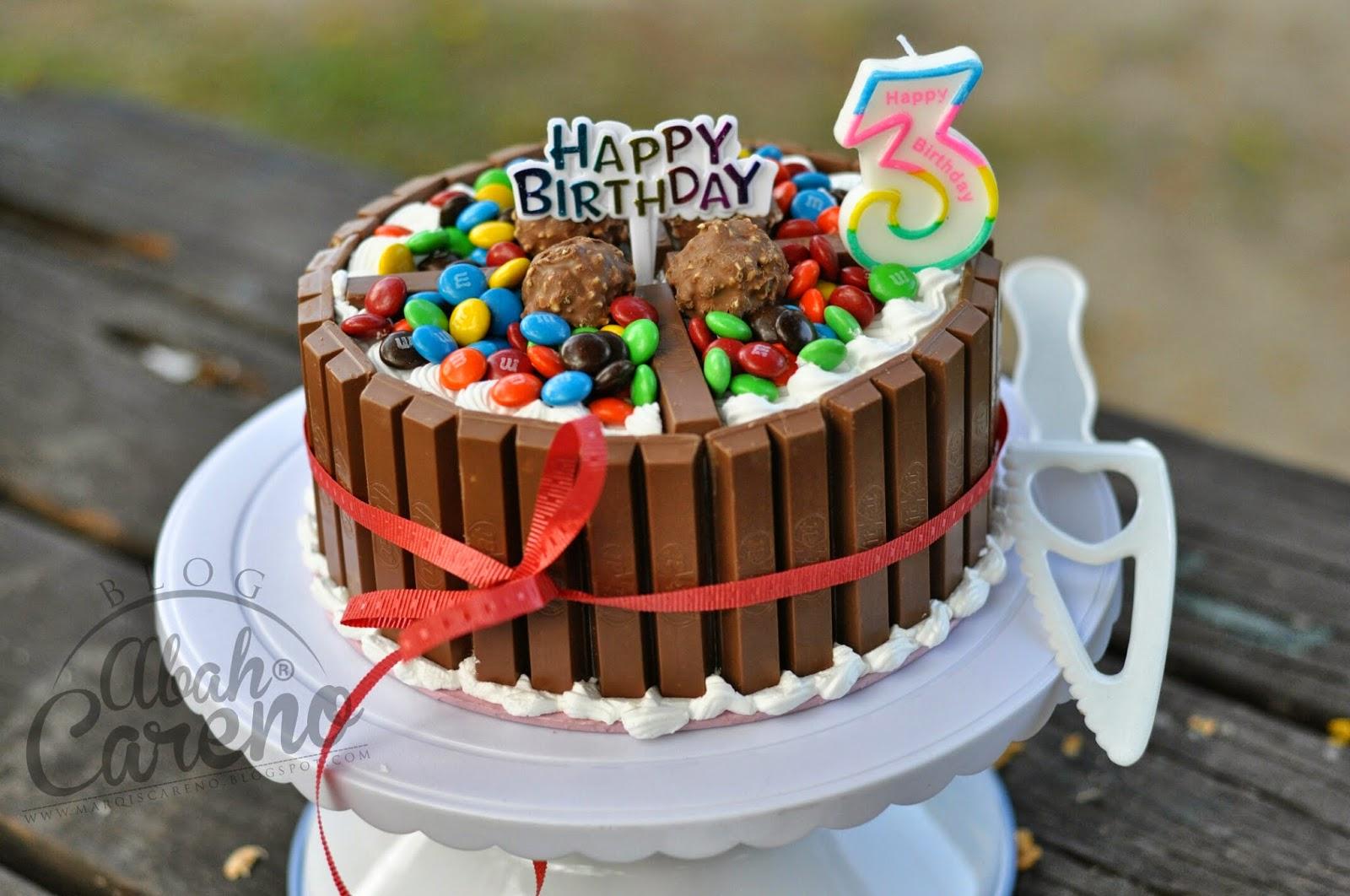 Kek Birthday Akiff Dari Kecik Blog Abah Careno
