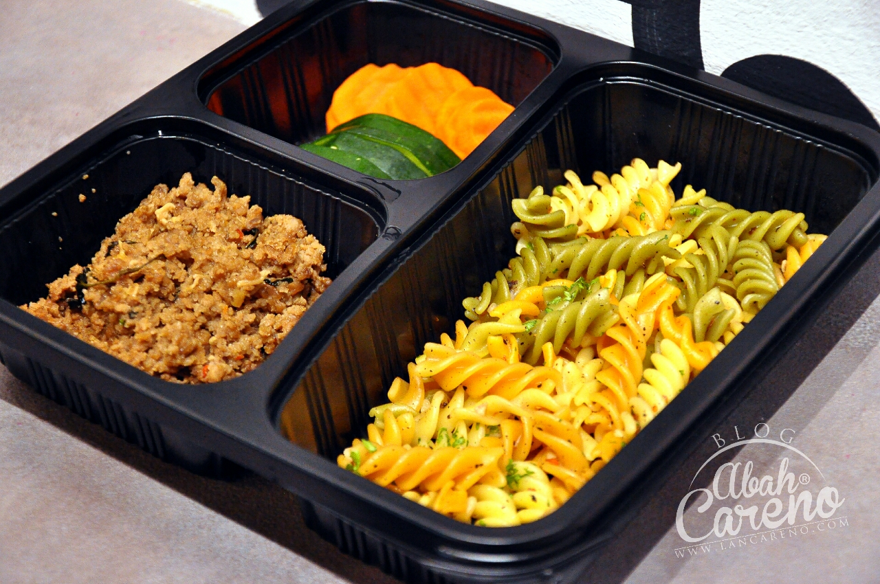 Healthy 07 - Tricolor Fussili, Mince Beef with Basil, Carrot & Green Zucch ini (RM17.50)
